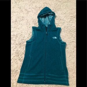 Women's The North Face Hooded Zip Up Vest SZ S